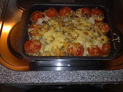mon plat préféré ,des tomates farcie a la Christerix ......