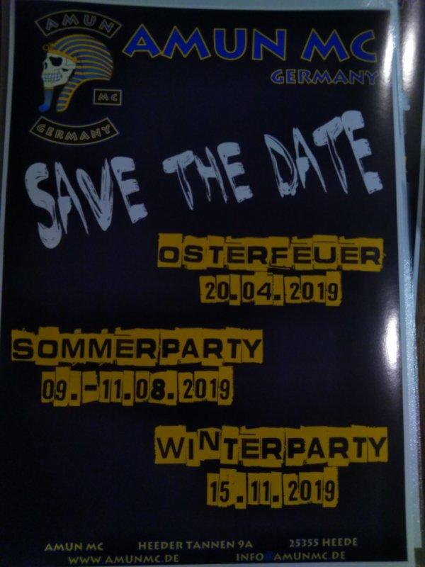 Prochaines  partys pour 2019