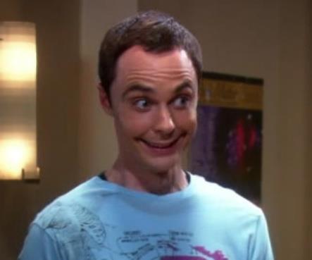 """Sheldon Cooper """"en mode j'apprend a sourir""""  MDR"""