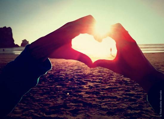 un coeur blanc <3 <3