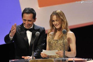 Vanessa Paradis et Gad Elmaleh lors de la 35ème cérémonie des César