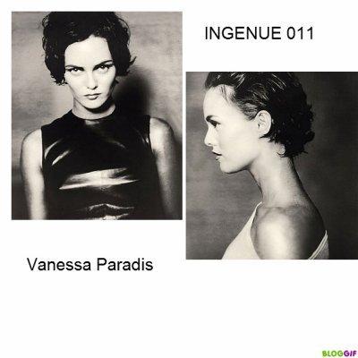 VANESSA PARADIS EN NOIR ET BLANC