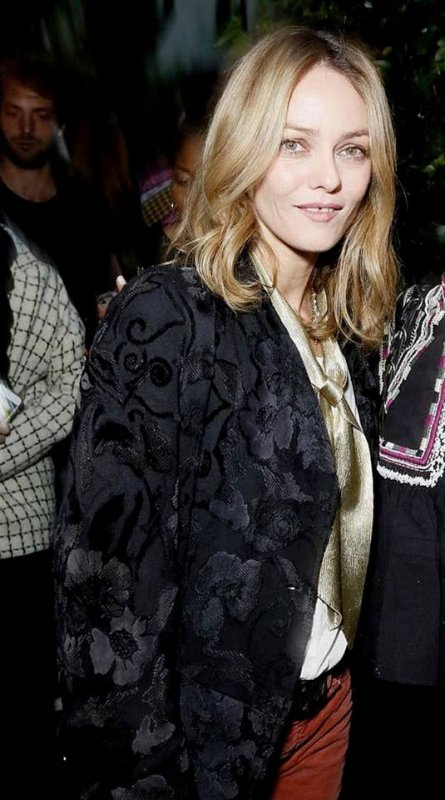 VANESSA PARADIS the Vogue party in Paris