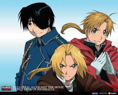 Roy Mustang, Alphonse Elric et Edward Elric