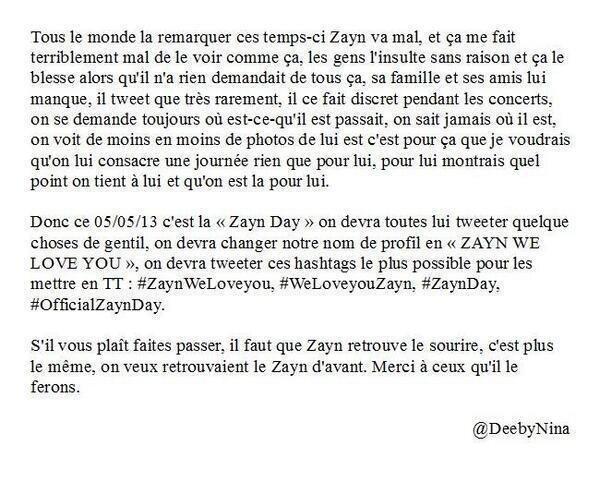 For Zayn, please... ♥