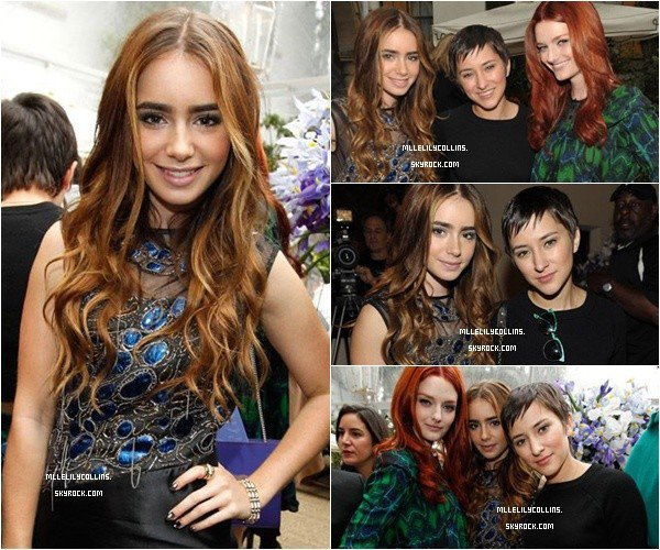 19/10 - Lily Collins attending the 2010 Vogue CFDA Fashion Fund Finalists Celebration & Dinner