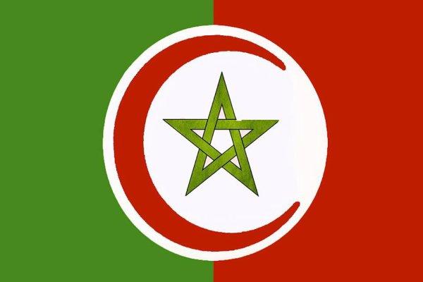 """voila notre drapeau!!!! Nous sommes frères  """"وتعاونوا على البر والتقوى ولا تعاونوا على الاثم والعدوان """""""