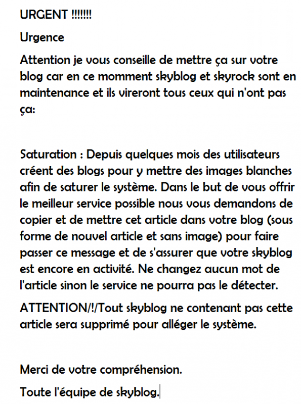 ATTENTION LES FILLES