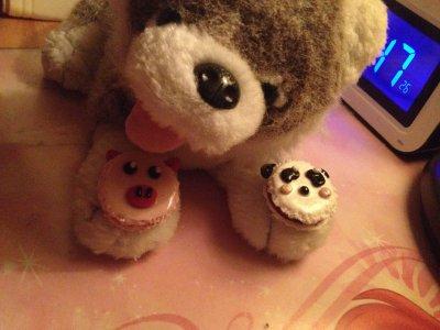 Macaron Panda et Cochon ^^