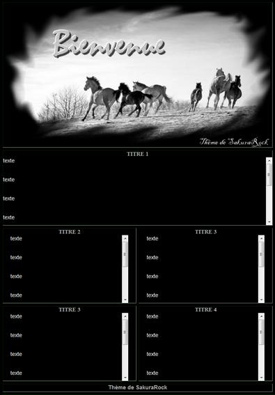 ஃ Thème Horse Black ஃ