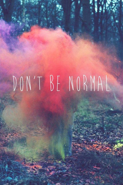 n'être comme personne est un art de vivre.