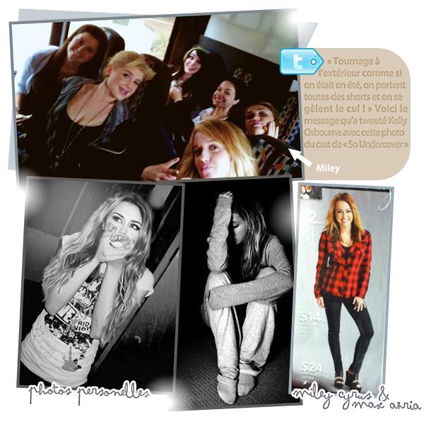 """Miley sur le set de """"So Undercover"""" le 03/01/11"""