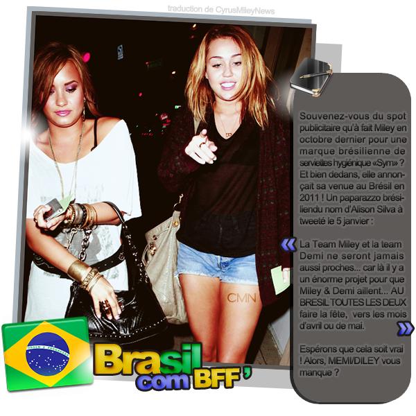 Miley & Demi, bientôt au Brésil ensemble ?