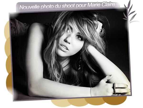 Miley à Haïti + nouvelle photo pour Marie Claire