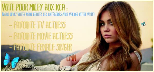 """Vote pour Miley aux KCA + Vidéo promotionnelle pour """"Saturday Night Live"""""""