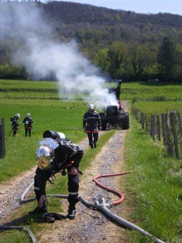 la section des pompiers et des jsp d'arinthod