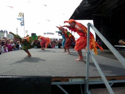 Photo de la troupe Thaïlandaise invitée d,Honneur par la ville de Dieppe