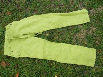 Pantalon en lin vert - Taille L - Jamais porté - 10 euros port compris.