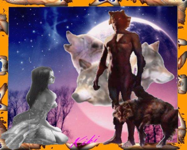 femme et un loup de leny