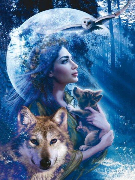 femme et un loup de sonia