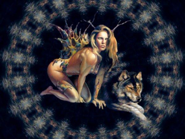 femme et un loup de alain