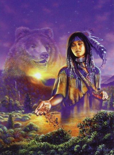 femme avec loup de gaston