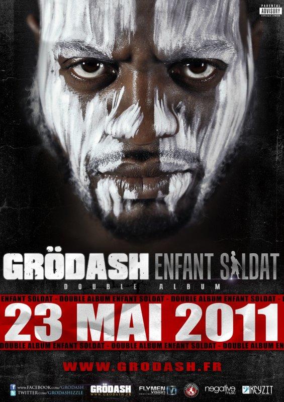 """DOUBLE ALBUM DE GRODASH """"ENFANT SOLDAT"""" DANS LES BACS LE 23 MAI !! POCHETTE OFFICIELLE"""