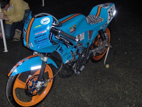mon motobec avant les 24H pour le telethon a MORTIN