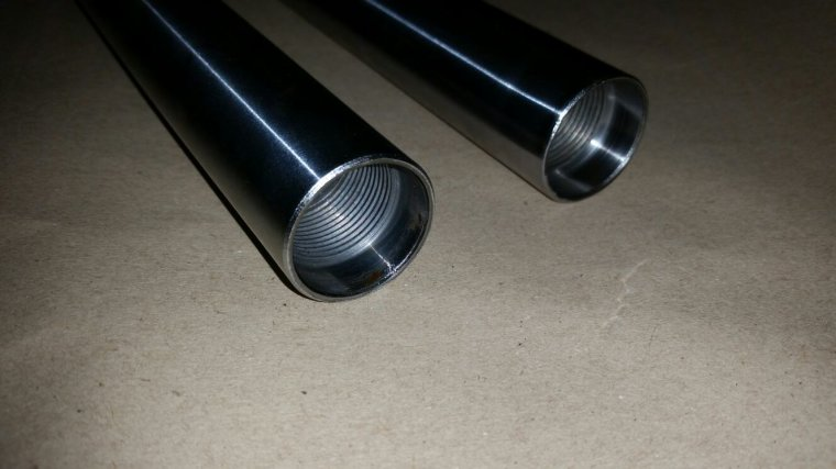 Remise en etat tubes de fourche mbk   cf