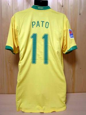 bdcb5c706a6 Brazil  11 Alexandre Pato Match-worn home shirt (2) 2007 FIFA U-20 World Cup