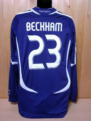 new product 17e5d 78126 06/07 Real Madrid #23 David Beckham Match-issued 3rd shirt ...