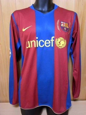 9fd3c9b31 07 08 FC Barcelona  19 Lionel Messi Match-worn home shirt (1) UEFA  Champions League