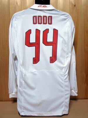 07/08 A.C.Milan #44 Oddo Match-worn away shirt (2) UEFA Champions ...