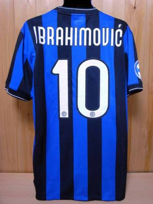 reputable site a7b35 6dc39 Inter Milan #10 Ibrahimovic Match-issued home shirt (2) 2009 ...