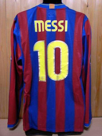 2f5395b15 09 10 FC Barcelona  10 Messi Match-issued home shirt (2) UEFA Champions  League