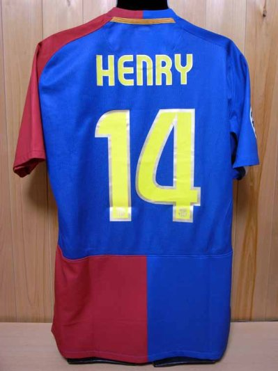 1af3d372d 08 09 FC Barcelona  14 Henry Match-issued home shirt (2) UEFA Champions  League