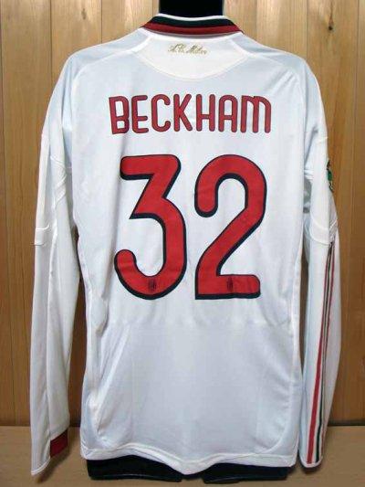 09/10 A.C.Milan #32 David Beckham Match-issued away shirt (2) Serie A/Lega Calcio