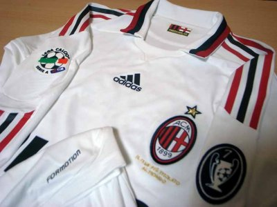 09/10 A.C.Milan #32 David Beckham Match-issued away shirt (3) Serie A/Lega Calcio