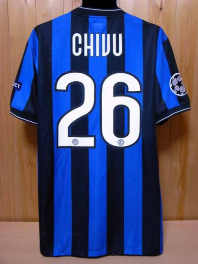 09/10 Inter Milan #26 Chivu Match-issued home shirt (2) UEFA Champions League
