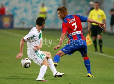10/11 CSKA Moscow #7 Honda Player's spec home shirt (4) Russian Football League