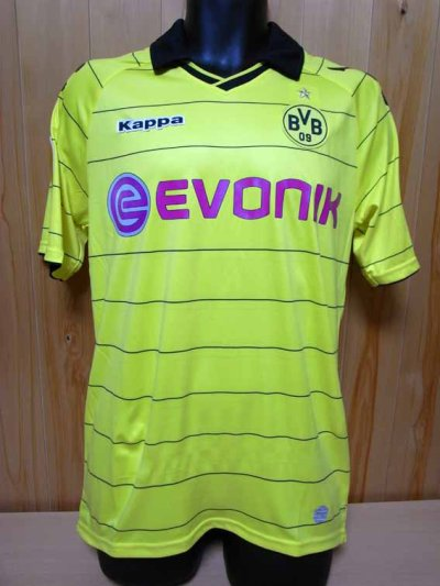 10/11 Borussia Dortmund #23 Shinji Kagawa Match-issued home shirt (1) UEFA Europa League