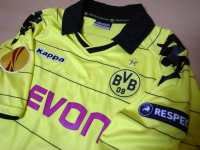 10/11 Borussia Dortmund #23 Shinji Kagawa Match-issued home shirt (3) UEFA Europa League