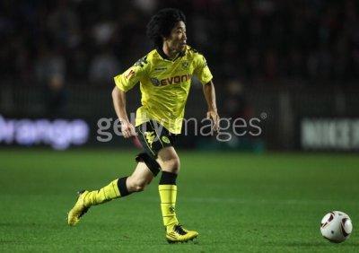 10/11 Borussia Dortmund #23 Shinji Kagawa Match-issued home shirt (4) UEFA Europa League
