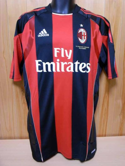 10/11 A.C.Milan #11 Ibrahimović Match-issued home shirt (1) Serie A/Lega Calcio