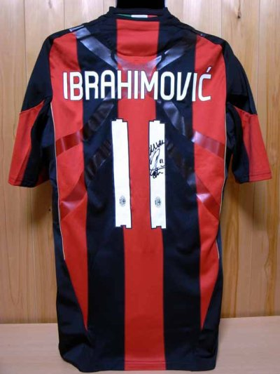 10/11 A.C.Milan #11 Ibrahimović Match-issued home shirt (2) Serie A/Lega Calcio