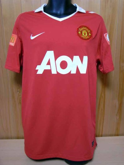 2010 Manchester United #7 Michael Owen Match-issued home shirt (1) FA Community Shield