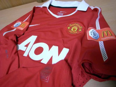 2010 Manchester United #7 Michael Owen Match-issued home shirt (3) FA Community Shield