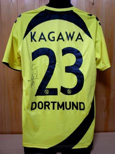 10/11 Borussia Dortmund #23 Shinji Kagawa Match-issued home shirt (2) 1.Bundesliga