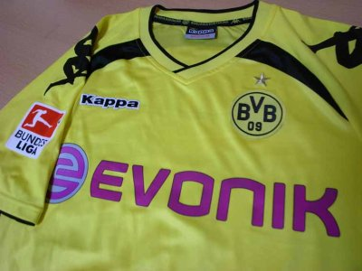 10/11 Borussia Dortmund #23 Shinji Kagawa Match-issued home shirt (3) 1.Bundesliga