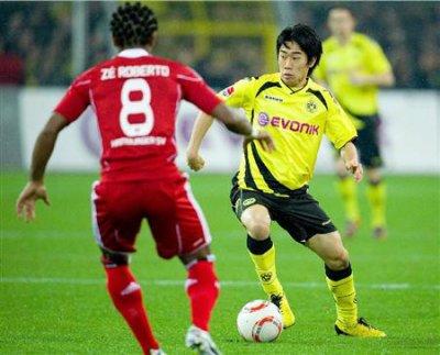 10/11 Borussia Dortmund #23 Shinji Kagawa Match-issued home shirt (4) 1.Bundesliga